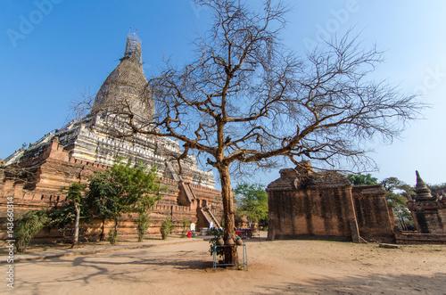 Poster Shwesandaw Pagoda is a Buddhist pagoda located in Bagan, Myanmar.