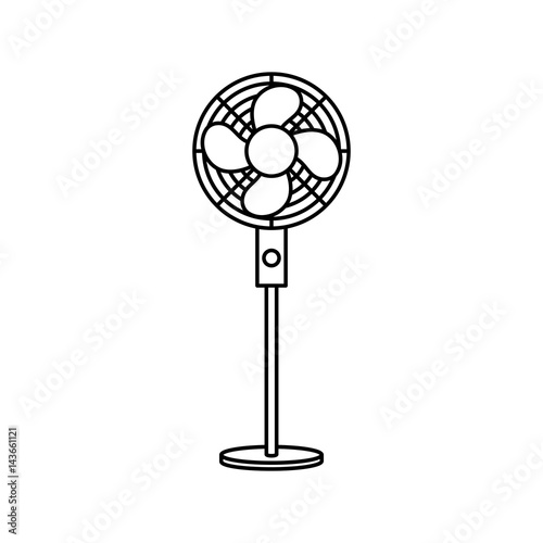 fan appliance isolated icon