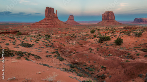 Fotobehang Natuur Park Monument valley after sunset, Arizona, USA.