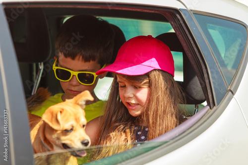 Fotografiet Family on summer trip.