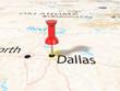 Pushpin on Dallas map