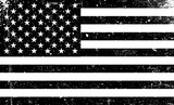 Grunge monochrome United States of America flag. Black and white vector illustration with grunge texture. - 143693782