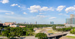 A panoramic view of Houston looking north towards downtown from the Medical Center