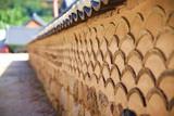 Brick wall at Gyeongbokgung Palace