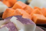 Close up of Purple Turnip Skin