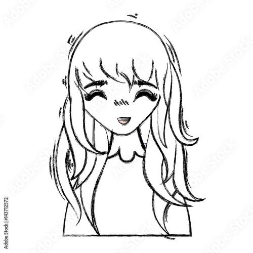 anime happy cute woman - 143712572