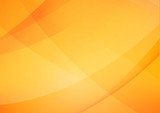 Abstract Yellow and orange warm tone background with simply curve lighting element vector eps10 002 - 143712711