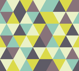 vector triangle seamless pattern