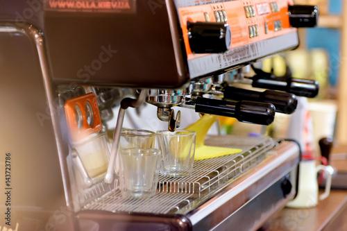 Papiers peints Café en grains Coffee brewing machine. Shallow DOF