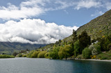 Queenstown New Zealand. Remarkable ranges and lake Wakatipu waters.Scientists have rated it as 99.9% pure – making it the second-purest lake water in the world.  - 143741740
