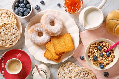 Poster Rich breakfast table