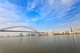 Shanghai bridge and Huangpu river