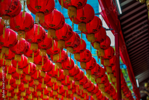 Lanterns at the Thian Hock Keng Temple in Singapore - 5 Poster