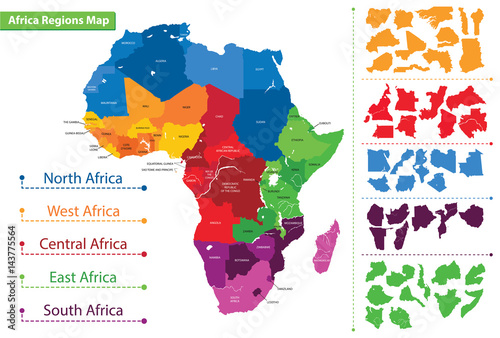 Map of the regions of Africa. Map of Africa | Buy Photos | AP Images ...