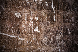 Ancient Alphabets on Marble Background - 143780915
