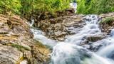 Waterfall on summer season in Thailand