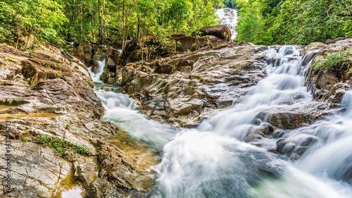 Waterfall on summer season in Thailand - 143796713