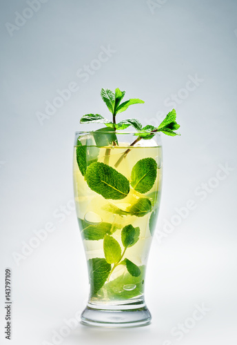 Poster Cold drink with mint and ice