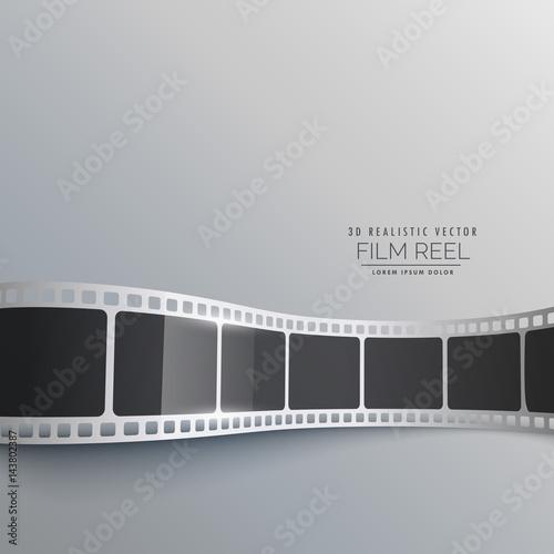 3d film strip vector background design