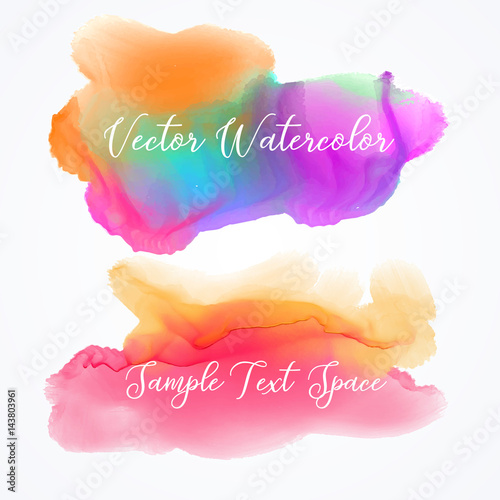 stylish watercolor stain vector background