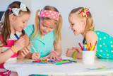 Little girls drawing - 143830727