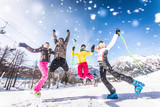 Fototapety Friends on winter holidays