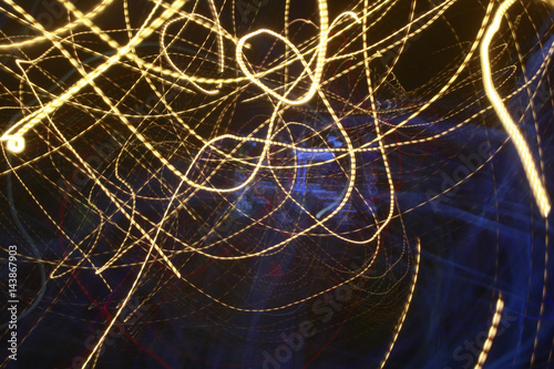 Abstract colored lines in darkness Poster