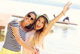 friends having fun outdoors in summer