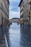 Narrow streets in Florence.Italy
