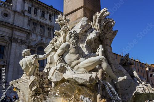 Poster Italien, Rom, Piazza Navona