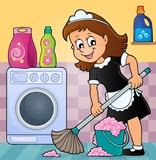 Cleaning lady theme image 5