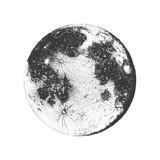 Vector illustration of Moon, dots - 143910523