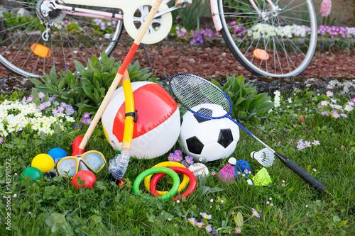 Poster freizeit spielzeug mit Damenrad