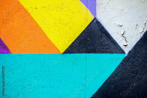Aluminium Graffiti Graffity wall. Abstract detal of Urban street art design close-up. Modern iconic urban culture. Aerosol pictures. Can be useful for backgrounds.
