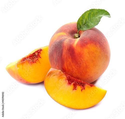 Peach fruits .