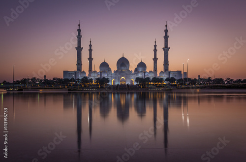Foto op Canvas Abu Dhabi Sheikh Zayed Grand Mosque
