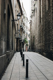 Street of Gothic quarter in Barcelona, Spain