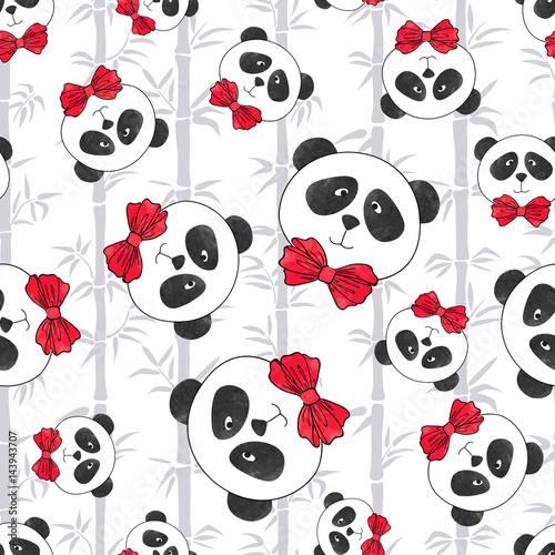 tapeta-pandy-z-bambusem,-wzor,-plakat