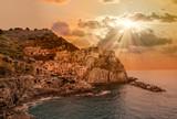 Beautiful view of Manarola town, Cinque Terre, Liguria, Italy