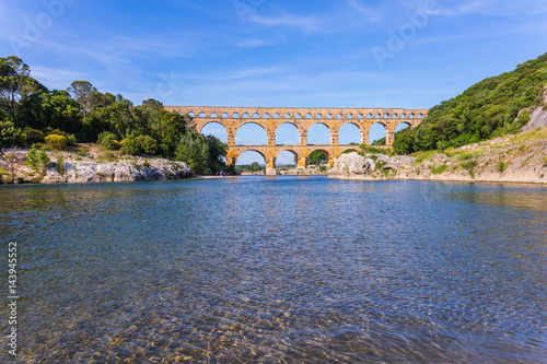 Pont du Gard was built in Roman times on  river Gardon Poster