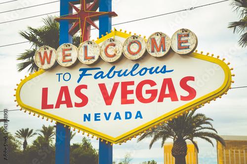 Deurstickers Las Vegas Welcome to Fabulous Las Vegas sign, Las Vegas Strip, Nevada, USA