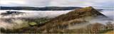 Ruined Castle Dinas Bran in a temperature inversion