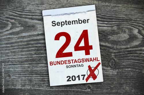 Kalender mit Bundestagswahl 2017 Poster