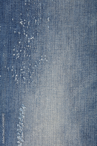 Shred jeans detail