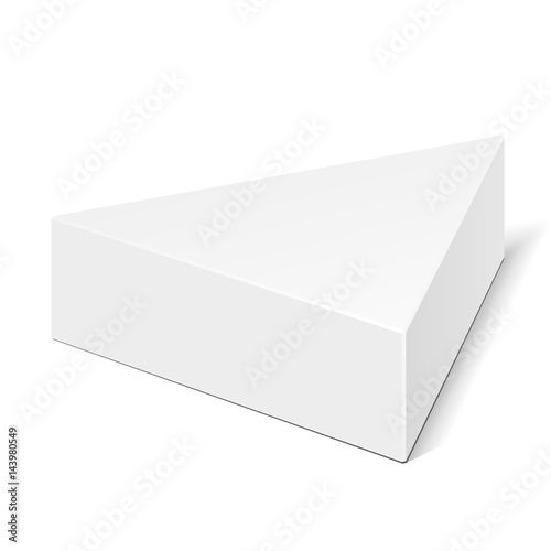 White cardboard triangle box packaging for food gift or other white cardboard triangle box packaging for food gift or other products illustration isolated on maxwellsz