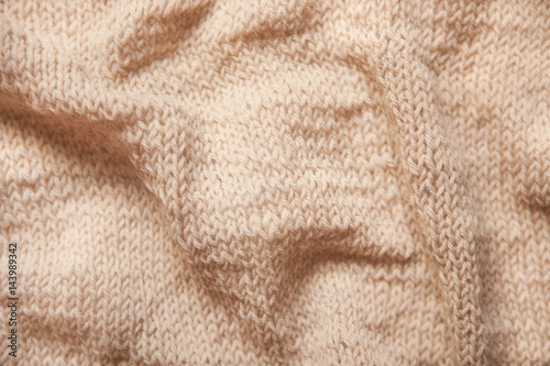 Poster Knitting brown textured wool background