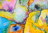 An abstract watercolour painting, suggestive of a map.  - 143990173