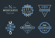 Auto mechanic logo set