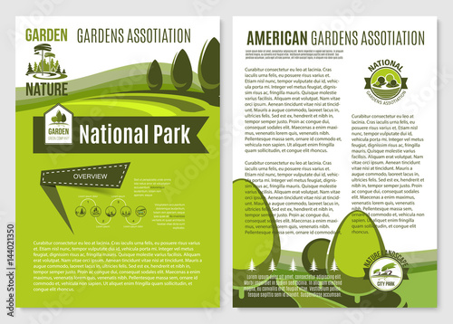 Vector posters for landscape gardening company
