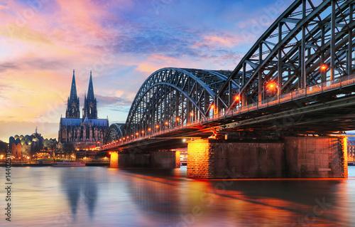 Leinwanddruck Bild Cologne, Germany